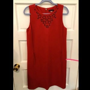 Tommy Hlfiger Red Lace Formal Short Dress